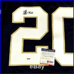 C. J. Prosise Signed Notre Dame Adidas Authentic Jersey Psa/dna Rookie Graph Coa