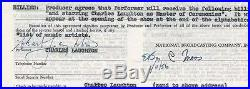 CHARLES LAUGHTON HUNCHBACK OF NOTRE DAME RARE SIGNED AFTRA CONTRACT 1956 WithCOA