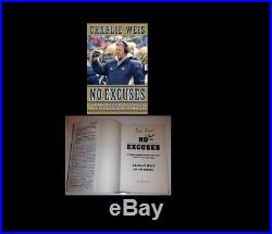 CHARLIE WEIS SIGNED BOOK NO EXCUSES NOTRE DAME WithCOA FROM SIGNING NFL FOOTBALL