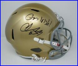 Chase Claypool Signed Notre Dame F/S Helmet Go Irish! Insc BAS COA 808