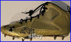 Chase Claypool Signed Notre Dame Under Armour Football Cleats withBeckett COA
