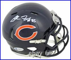 Cole Kmet Signed Chicago Bears Mini Helmet (Beckett COA) 1st Rd Pick /Notre Dame