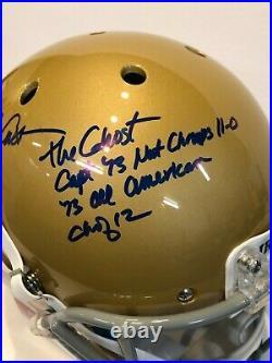 Dave Casper Autographed Signed 4x Inscribed Notre Dame Full Size Helmet Jsa Coa