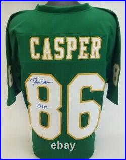 Dave Casper CHOF 12 Signed Notre Dame Fighting Irish Jersey (JSA COA) Raiders