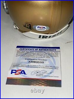 Dave Casper Notre Dame Signed Autograph Mini Authentic Helmet Psa/dna Coa