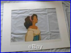 Disney Limited Edition Character Cel Esmeralda from Hunchback of Notre Dame COA