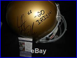 EVERETT GOLSON NOTRE DAME SIGNED FULL SIZE HELMET WithJSA COA L37117 WithINSCRIPTION