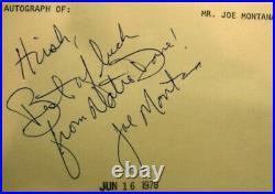 Early Joe Montana Signature Autograph + More From 1977 Notre Dame Jsa Coa
