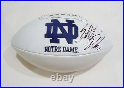 Everett Golson Signed Notre Dame Fighting Irish Logo Football withCOA