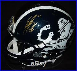 Everett Golson Signed Notre Dame Irish Full Size Helmet Exact PROOF + PSA COA FS