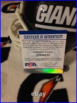 Extremly Rare Joe Heap New York Giants Signed Mini Helmet Notre Dame Psa Dna Coa