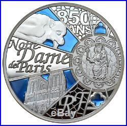 FRANCE 50 Euro 2013 Silver 5oz. Proof'Notre Dame De Paris UNESCO' Box/CoA Rare