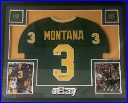 Framed Joe Montana Notre Dame SF 49ers Autographed Signed Jersey PSA/DNA COA