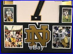 Framed Stephon Tuitt Autographed Signed Notre Dame Jersey Jsa Coa