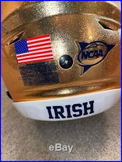 Game Used Notre Dame Football Riddell Speedflex Helmet Nd Coa Chase Claypool
