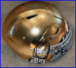Game Used Notre Dame Football Riddell Speedflex Helmet Nd Coa Chase Claypool