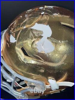 Game Used Photo Match Notre Dame Football Riddell Speedflex Helmet Coa