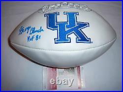 George Blanda Kentucky, Raiders, Hof Jsa/coa Signed Football