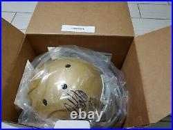 Golden Tate Autographed Notre Dame Full Size Helmet beckett COA
