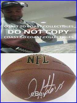 Golden Tate, Lions, Seahawks, Notre Dame, Signed, Autographed, NFL Football, Coa, Proof