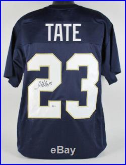 Golden Tate Signed Notre Dame Fighting Irish Jersey (Beckett COA) Lions Receiver