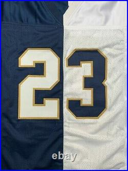 Golden Tate autographed signed jersey NCAA Notre Dame PSA COA NY Giants