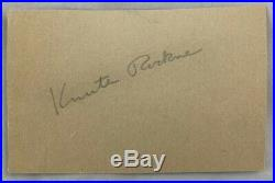 Hand Signed Cut w COA Knute Rockne Notre Dame Fighting Irish College Football