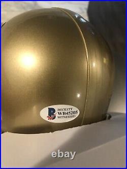 Harrison Smith Signed Notre Dame Mini Helmet Becket COA