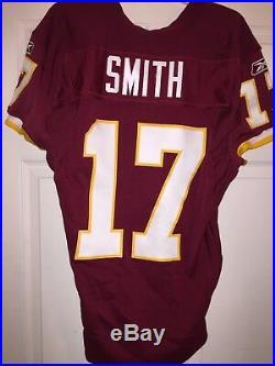 Hunter Smith Washington Redskins Game Used Worn Jersey Punter Notre Dame JO COA