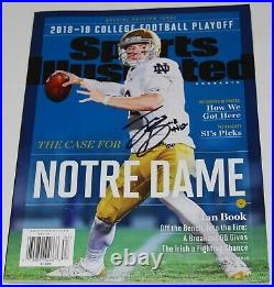 IAN BOOK signed Notre Dame Fighting Irish (SPORTS ILLUSTRATED) magazine WithCOA