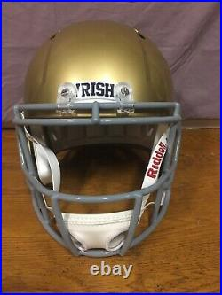 Ian Book Autographed Full Size Notre Dame Helmet Beckett COA