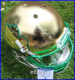 Ian Book Signed Notre Dame Fighting Irish Full Size Helmet withBeckett COA Z05707