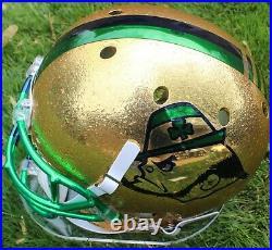 Ian Book Signed Notre Dame Fighting Irish Full Size Helmet withBeckett COA Z05708