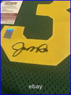 JOE MONTANA AUTOGRAPHED NOTRE DAME THROWBACK JERSEY JSA Fanatics Player COA