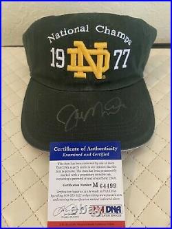 JOE MONTANA Notre Dame Irish Signed Autographed 1977 Nat Champ Hat COA PSA/DNA