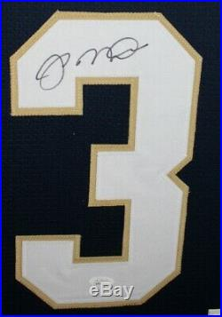 JOE MONTANA (Notre Dame) Signed Autographed Framed Jersey with JSA COA