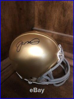 JOE MONTANA signed NOTRE DAME FIGHTING IRISH mini helmet Montana Foundation Coa