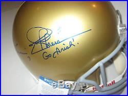 JOE THEISMANN & DARYLE LAMONICA Signed Full-Size NOTRE DAME Helmet & Beckett COA