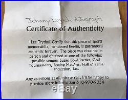 JOHNNY LUJACK BEARS HEISMAN AUTOGRAPH SIGNED NOTRE DAME IRISH MINI HELMET WithCOA