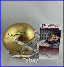 Jack Coan Signed Notre Dame Fighting Irish Schutt Mini Helmet Jsa Coa #wit710537