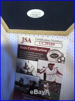 Jaylon Smith Autographed Notre Dame Fighting Irish White Jersey JSA COA