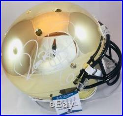 Jerome Bettis Signed Chrome Notre Dame Full Size Helmet Steelers Beckett Coa 333