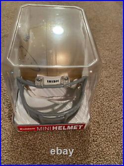 Jerome Bettis Signed Notre Dame Fighting Irish Mini Helmet Coa