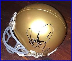 Jerome Bettis Signed Notre Dame Fighting Irish Mini Helmet JSA COA