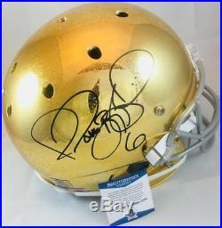 Jerome Bettis Signed Rough Notre Dame Full Size Helmet Steelers Beckett Coa 334