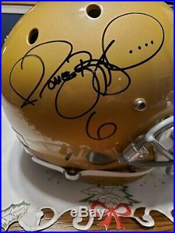 Jerome Bettis Signed Rough Notre Dame Full Size Helmet Steelers Radtke Coa