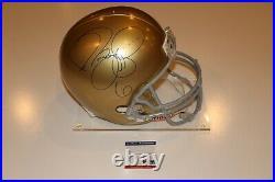 Jerome Bettis Signed University Of Notre Dame Full Size Helmet Psa/dna Coa