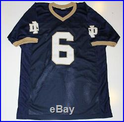 Jerome Bettis Signed University Of Notre Dame Throwback Jersey Psa/dna Auth Coa