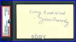 Jim Crowley PSA DNA Coa Signed Four Horsemen Notre Dame 3x5 Index Card Autograph