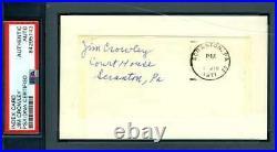 Jim Crowley PSA DNA Coa Signed Four Horsemen Notre Dame 3x5 Index Cut Autograph